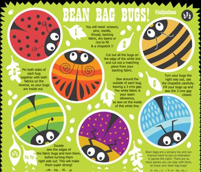 DIY FQ Bean Bag Bugs