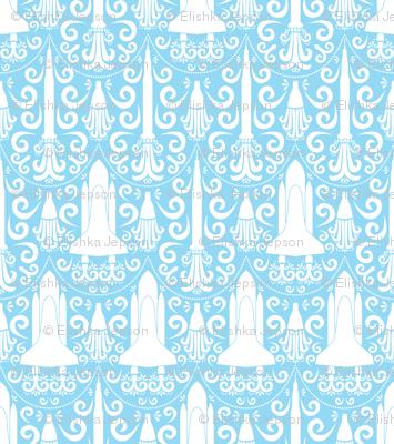 Rocket Science Damask (Blue)
