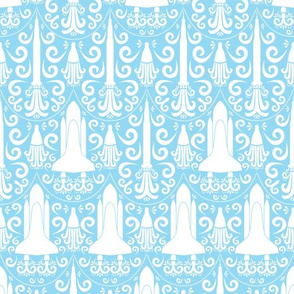 Rocket Science Damask (Blue)