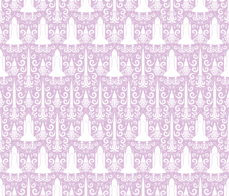 Rocket Science Damask (Purple) fabric by robyriker on Spoonflower - custom fabric