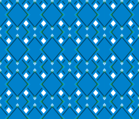 Blue and Green Rolls of Lattice fabric by anniedeb on Spoonflower - custom fabric