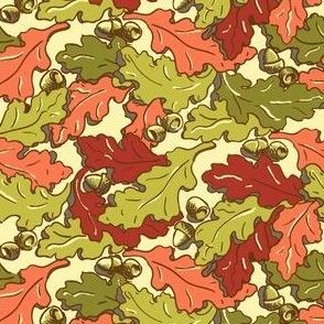 Derry Oak leaves_ Autumn Multicolours