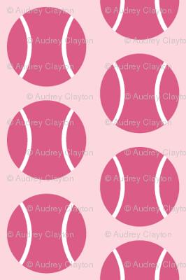 Small Half-Drop Dark Pink Tennis Balls