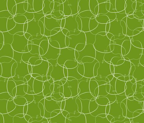 apples on green fabric by kociara on Spoonflower - custom fabric