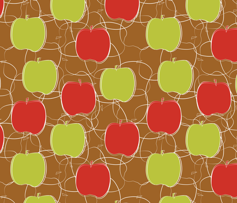 apples green and red fabric by kociara on Spoonflower - custom fabric
