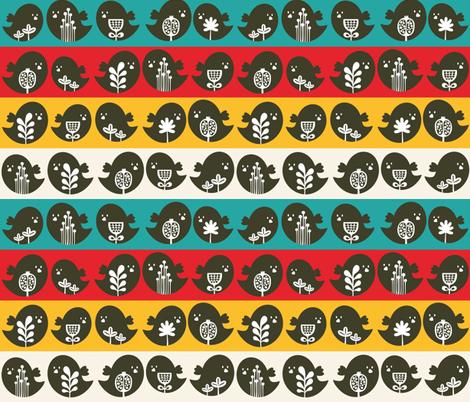 Bird in line. fabric by panova on Spoonflower - custom fabric