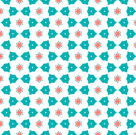 Field of flowers 3 fabric by mezzime on Spoonflower - custom fabric