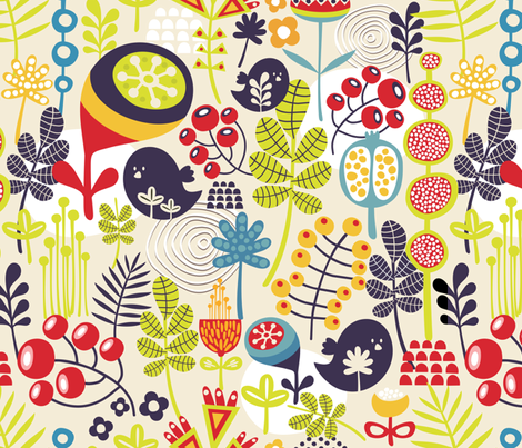 Cute nature. fabric by panova on Spoonflower - custom fabric