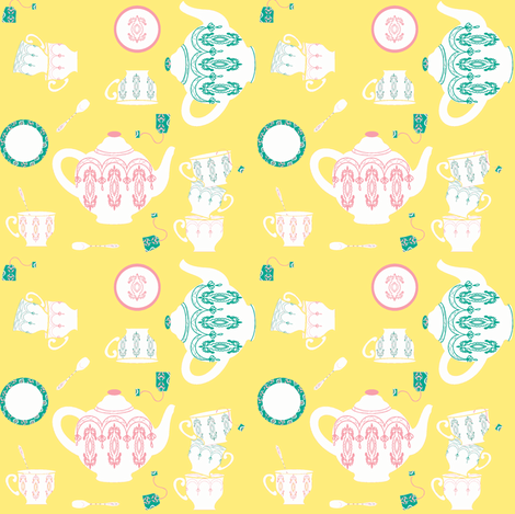 English Breakfast ©2012 Jill Bull fabric by palmrowprints on Spoonflower - custom fabric