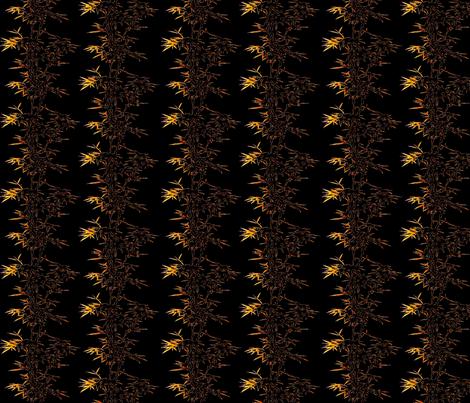 Bamboo black fabric by retroretro on Spoonflower - custom fabric