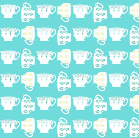 Mint tea ©jill bull fabric by palmrowprints on Spoonflower - custom fabric
