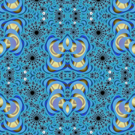 Fractal Space Butterflies fabric by eclectic_house on Spoonflower - custom fabric