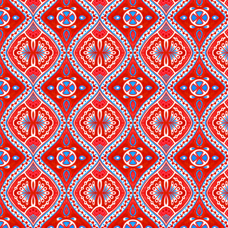 Rimini - Red fabric by siya on Spoonflower - custom fabric