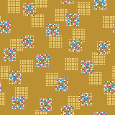 Rimini Blocks - Brown fabric by siya on Spoonflower - custom fabric