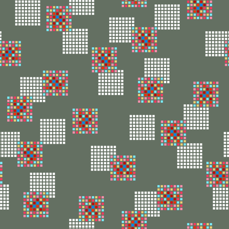 Rimini Blocks - Gray fabric by siya on Spoonflower - custom fabric