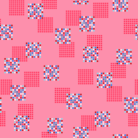 Rimini Blocks - Pink fabric by siya on Spoonflower - custom fabric