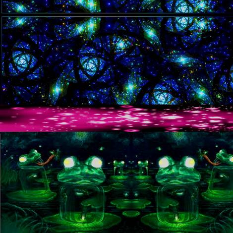 Frogs fabric by nursinggijo_ on Spoonflower - custom fabric