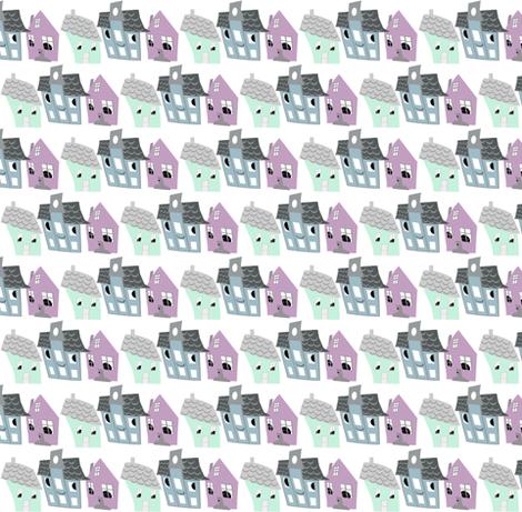 Houses fabric by katarinakarsberg on Spoonflower - custom fabric
