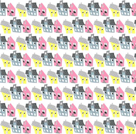 Houses 2 fabric by katarinakarsberg on Spoonflower - custom fabric