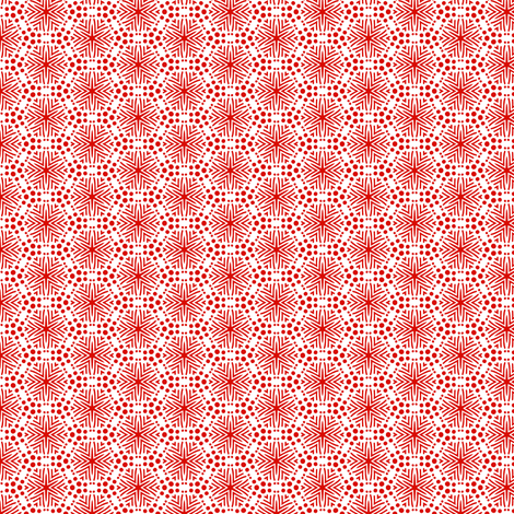 Rimini Stars - Red and White fabric by siya on Spoonflower - custom fabric