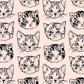 Cat Stack | Black on Peach