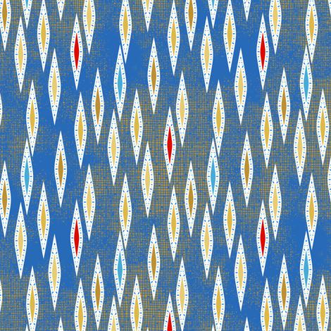 Rimini Jewel Darts - Blue fabric by siya on Spoonflower - custom fabric