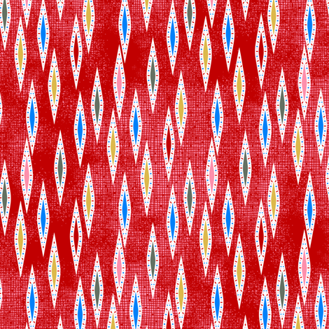 Rimini Jewel Darts - Red fabric by siya on Spoonflower - custom fabric