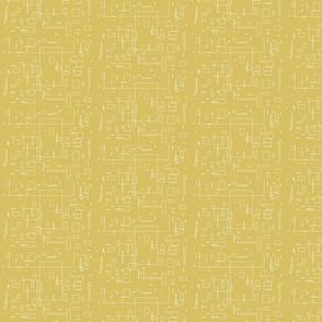 Crazy rectangles in mustard