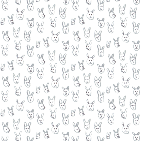 Cute Animal Heads fabric by imaginaryanimal on Spoonflower - custom fabric