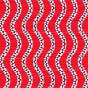Rimini Stripe - Red