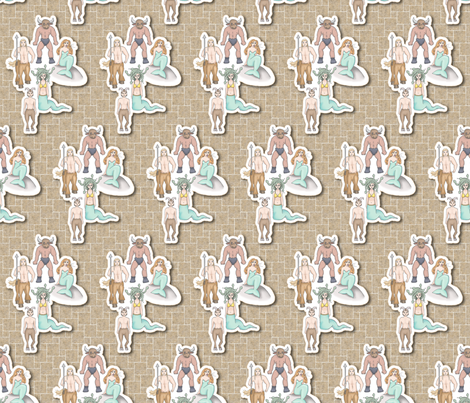 Teras (Monsters) fabric by melbrooks on Spoonflower - custom fabric
