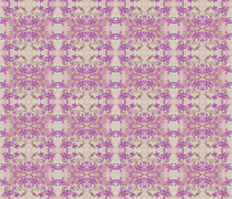 Purple Orchids & Dragonflies fabric by smudgeart on Spoonflower - custom fabric