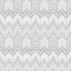 Gray Hand drawn Chevron