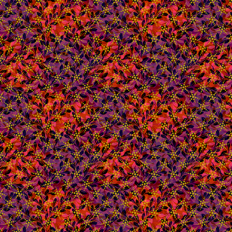 burning leaves fabric by glimmericks on Spoonflower - custom fabric