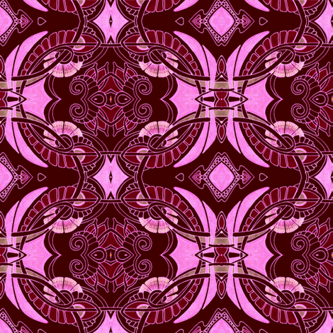 Pseudo Batik Rituals of the Raspberry Tribe fabric by edsel2084 on Spoonflower - custom fabric