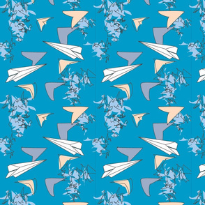 Paper Airplanes Blue
