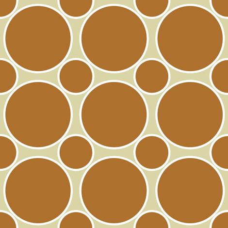 Pumpkin and white dots fabric by vo_aka_virginiao on Spoonflower - custom fabric