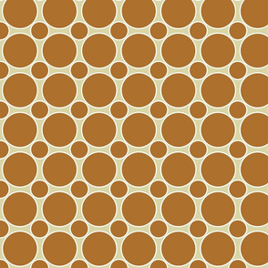 Pumpkin and white dots