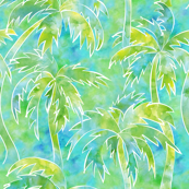 palm trees in watercolor