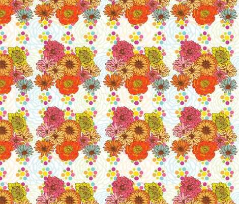 Flowers_DotsFieldPattern fabric by strauberry on Spoonflower - custom fabric