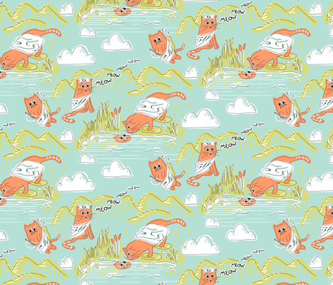 The Tail of Echo and Narcissus fabric by katrinazerilli on Spoonflower - custom fabric