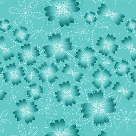 Ocean Mist Pearlblossoms fabric by jjtrends on Spoonflower - custom fabric