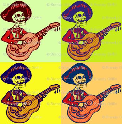 Pop Art Mariachi Skeletons