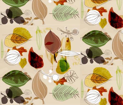Leafy love fabric by chrissyink on Spoonflower - custom fabric