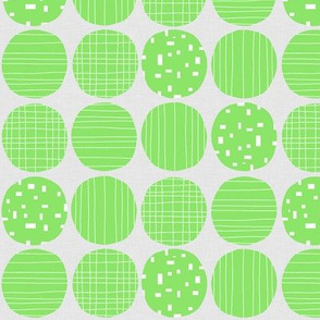Lime circles (grey background)