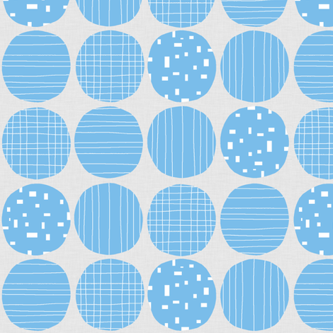 Blue circles (grey background) fabric by greennote on Spoonflower - custom fabric