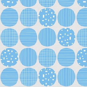 Blue circles (grey background)