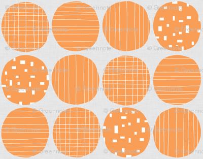 Orange circles (grey background)