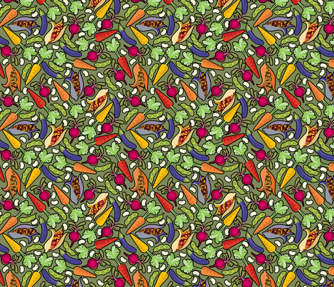 VEGies2 fabric by thickblackoutline on Spoonflower - custom fabric