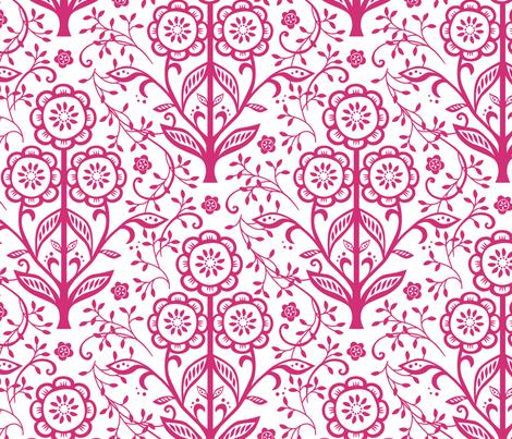 Cut Paper Flowers fabric by jillbyers on Spoonflower - custom fabric